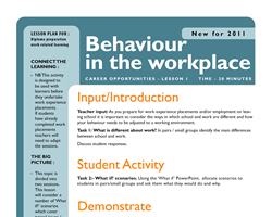 Behaviour in the workplace small