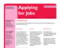 Tru ks3 wrl applying for jobs l4 small